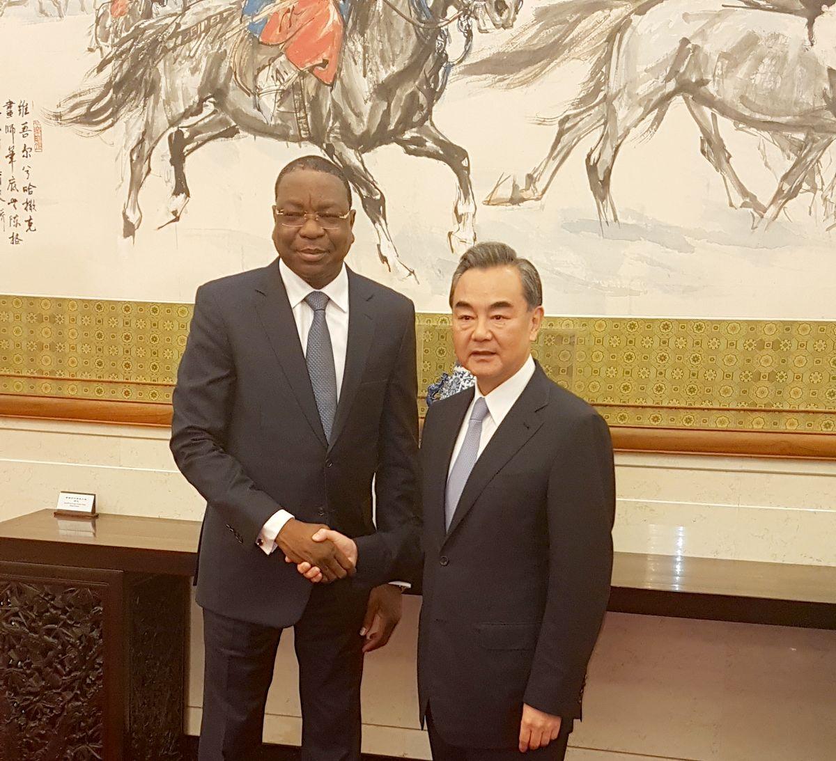 Mankeur Ndiaye en Chine