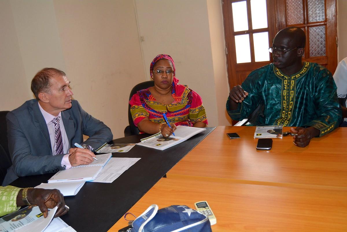 Soames Job de la Banque Mondiale et Ibrahima Lissa Faye