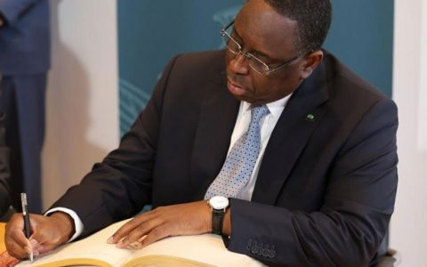 Macky Sall-Signature