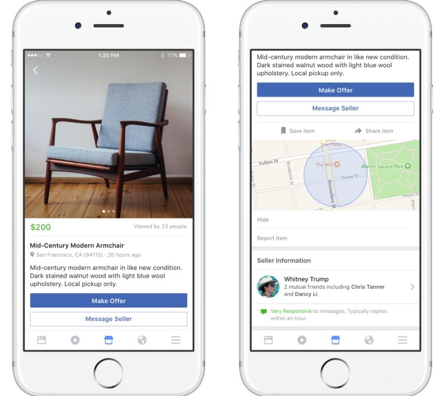 Facebook lance Marketplace, pour acheter et vendre des produits sur internet