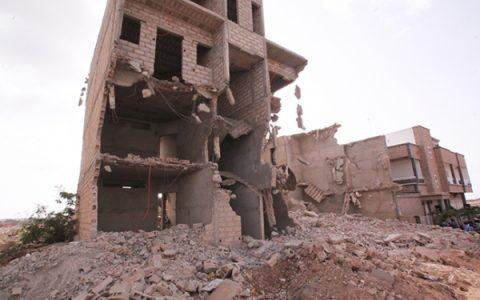 Opération de démolition