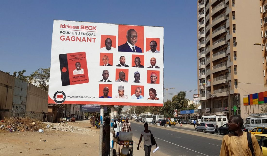 Idrissa Seck Affiche dans les rues e Dakar
