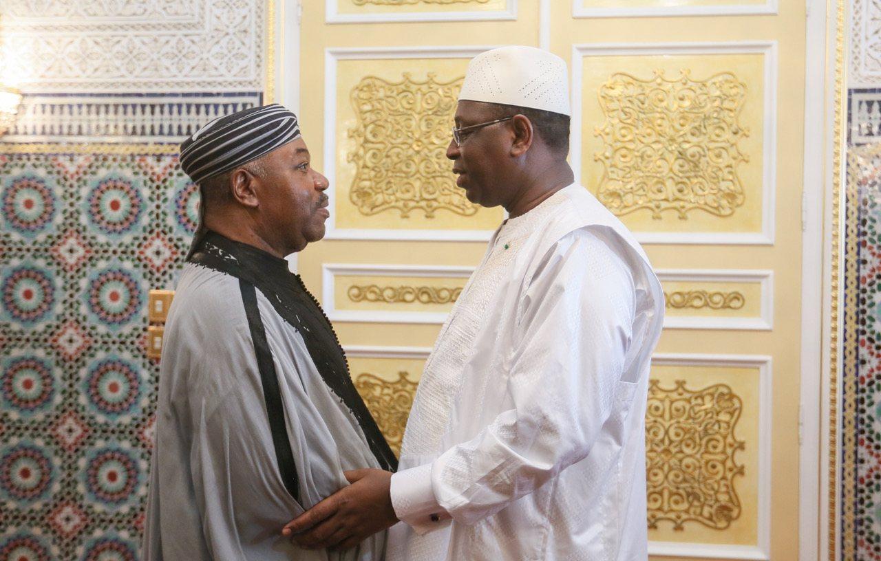 Macky Sall et Ali Bongo Ondimba au Palais du Gabon