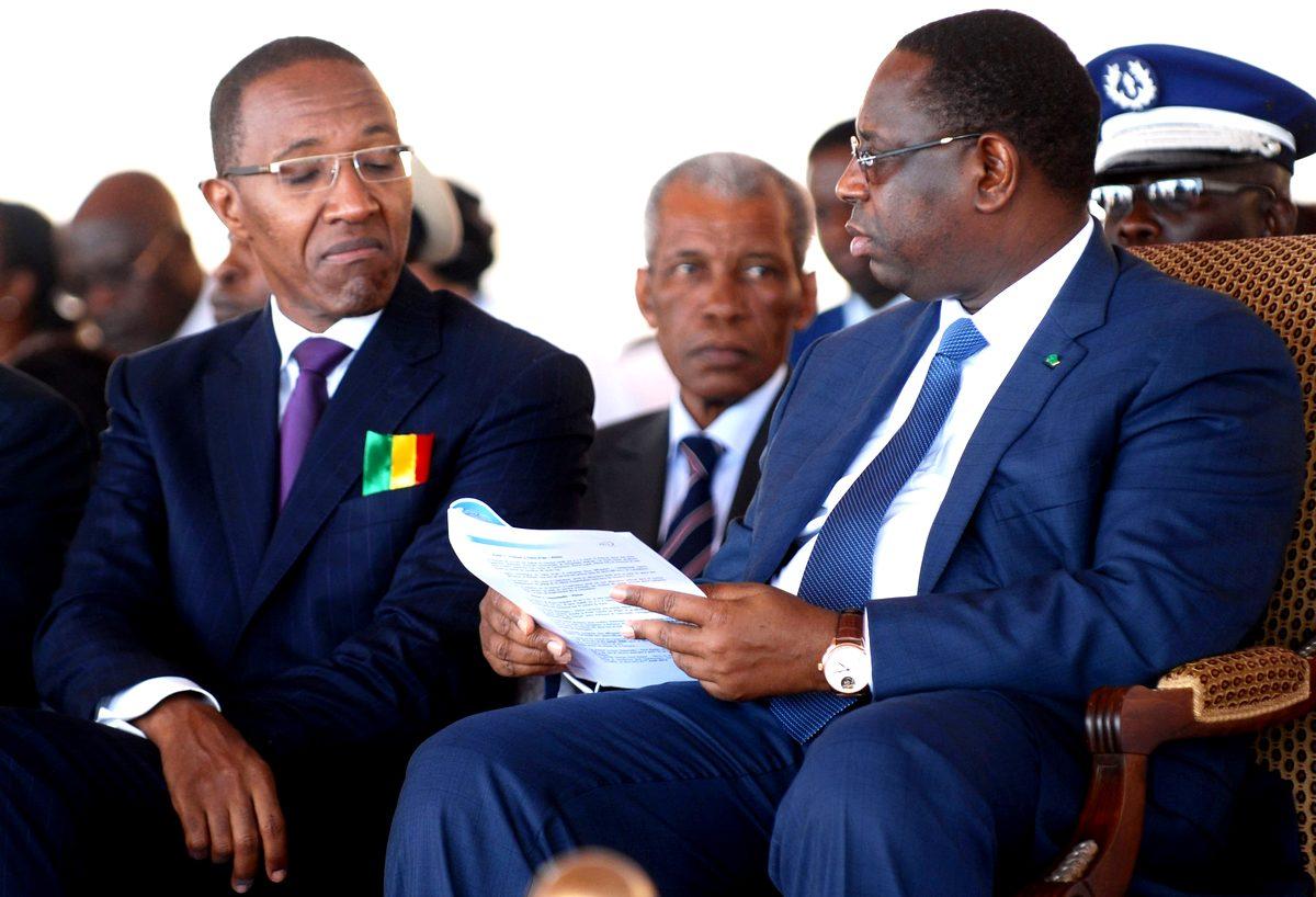 Abdoul Mbaye et Macky Sall