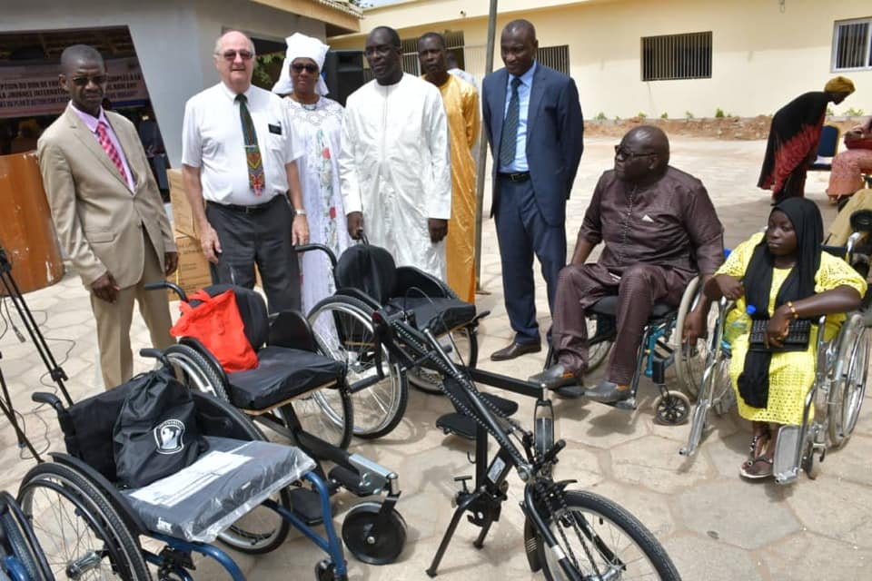 Abdoulaye Diouf Sarr fauteuil roulant