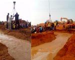 Inondations au Fouta - Des malades transportaient par une grue