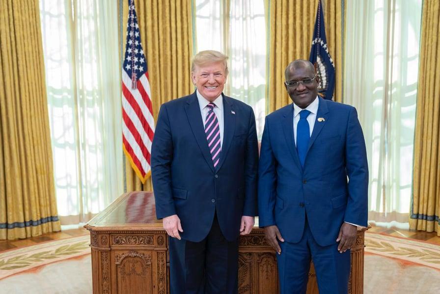 Mansour Elimane KANE et Donald Trump