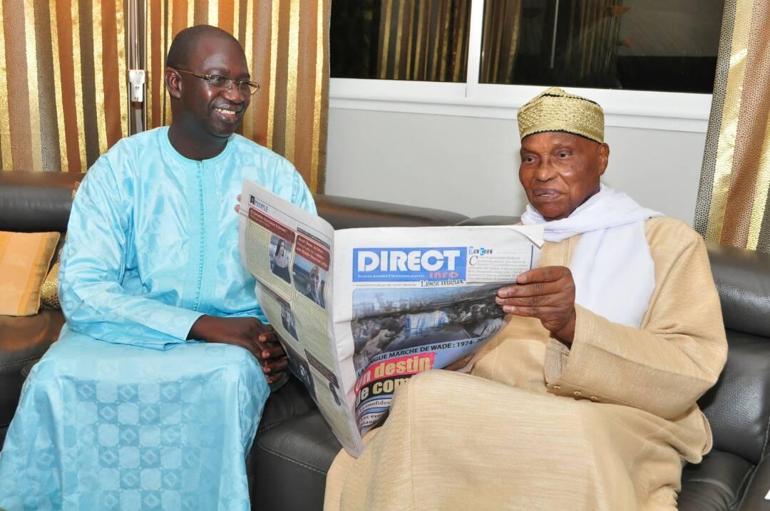 Pape Diogoye Faye avec Me Abdoulaye Wade